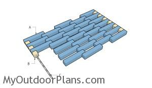 Building a wooden doormat