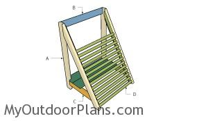 Building an angled vegetable trellis