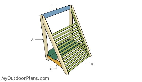 Building an angled vegetable trellis
