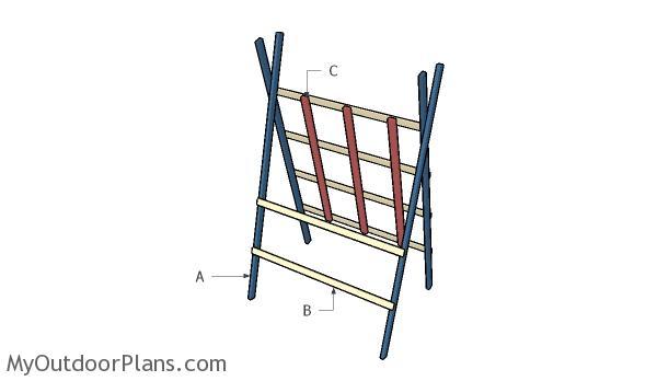 Building squash trellis