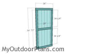 Building the shed door