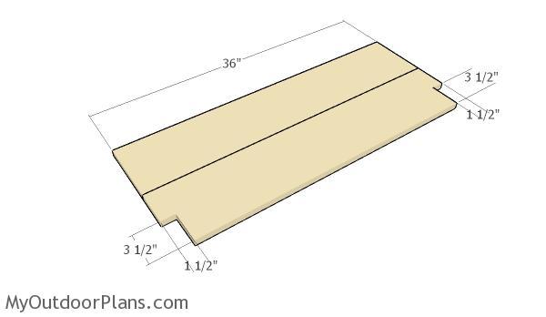 Building the shelf slats