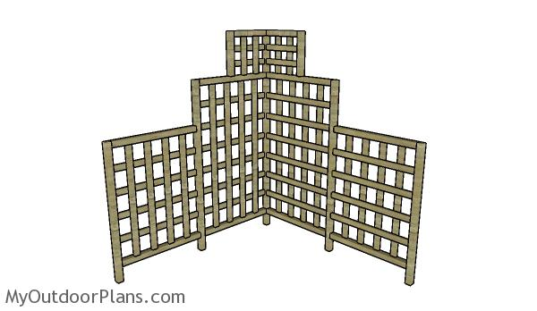 Corner Trellis Plans Myoutdoorplans Free Woodworking