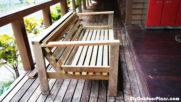 DIY Backyard Sofa