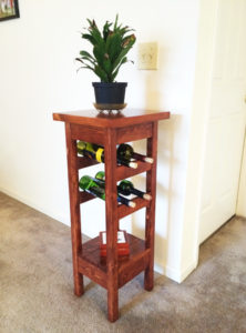 DIY-Plant-stand-with-wine-rack