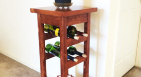 DIY Plant Stand with Wine Rack