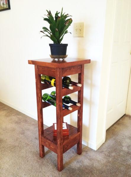 DIY Plant Stand with Wine Rack | MyOutdoorPlans | Free ...