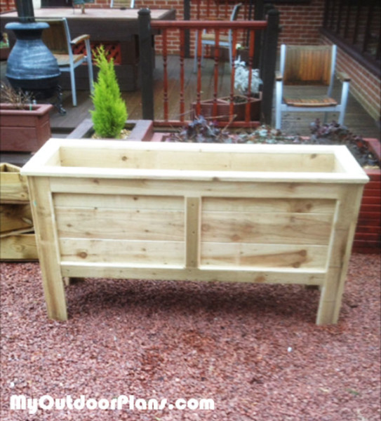 Diy Rectangular Planter Box Myoutdoorplans Free