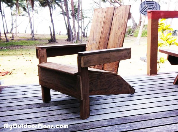 DIY Simple Adirondack Chair MyOutdoorPlans Free Woodworking Plans And Pro