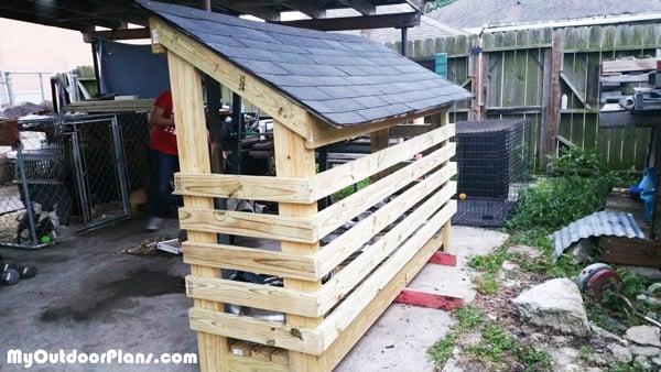 DIY Small Narrow Wood Shed