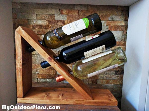 DIY Table Wine Rack | MyOutdoorPlans | Free Woodworking ...