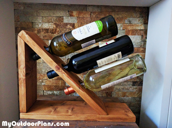 diy table wine rack myoutdoorplans free woodworking. Black Bedroom Furniture Sets. Home Design Ideas