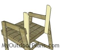 Fitting the backrest supports to the chair