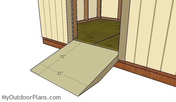 6x8 Shed Door and Ramp Plans