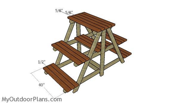 Large plant stand plans myoutdoorplans free for Plant shelf plans