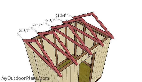 6x8 gable shed roof plans myoutdoorplans free for Order roof trusses online