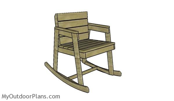 Rocking Chair Plans  MyOutdoorPlans  Free Woodworking Plans and ...