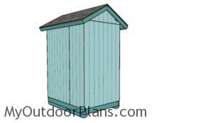Small gable shed plans - Back View