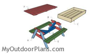 Building a kids picnic table with sandbox