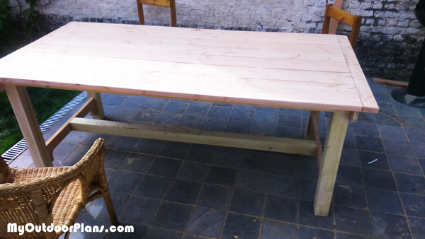 DIY Outdoor Table MyOutdoorPlans Free Woodworking Plans And Projects DIY