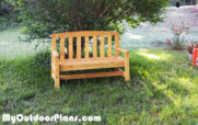 DIY 2×4 Outdoor Bench