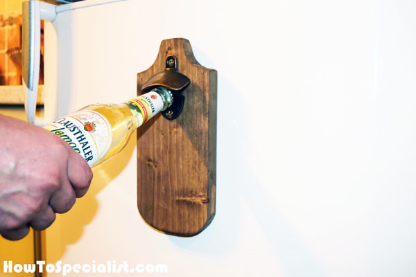 diy magnetic bottle opener myoutdoorplans free woodworking plans and projects diy shed. Black Bedroom Furniture Sets. Home Design Ideas
