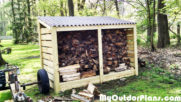 DIY Firewood Storage Shed