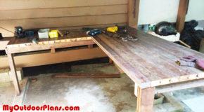DIY L-shaped Workbench