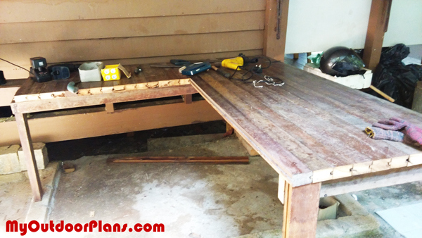 DIY L-shaped Workbench