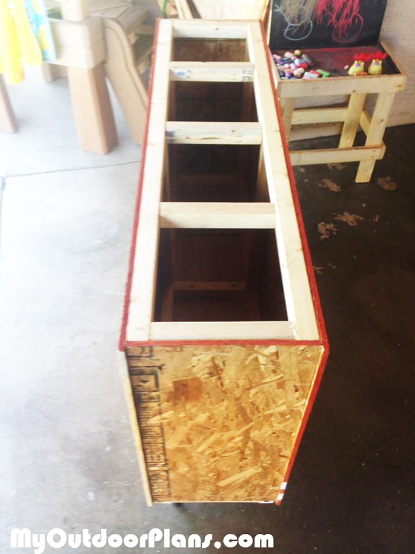 DIY Lumber Storage Cart