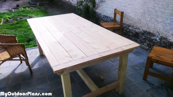 diy outdoor table myoutdoorplans free woodworking plans and