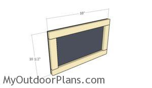 Fitting the chalkboard panel