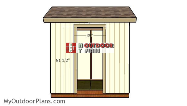 Fitting-the-door-jambs---small-garden-shed