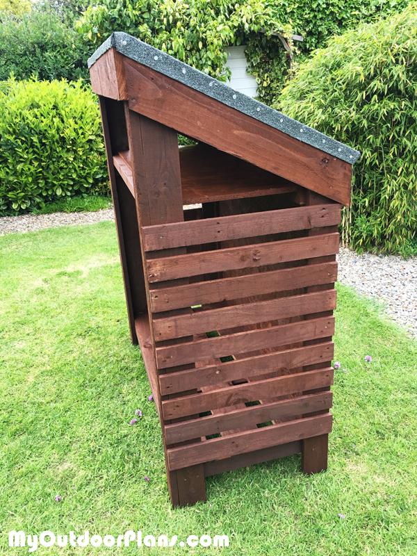 DIY Narrow Wood Shed   MyOutdoorPlans   Free Woodworking ...