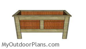 Planter Box with Legs Plans