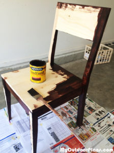 Staining-the-wood-chair