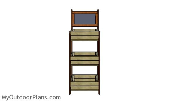 Tiered crate stand plans