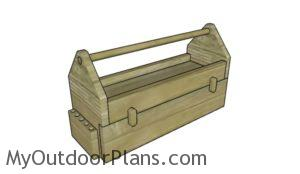 Wood Tool Box with Drawer Plans