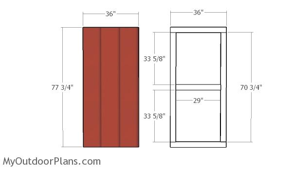Assembling the shed door