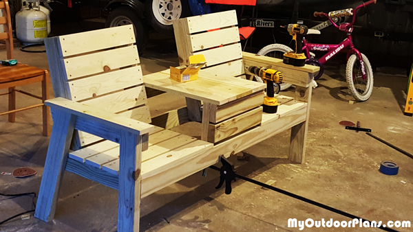 Build a Double Chair Bench   MyOutdoorPlans   Free Woodworking Plans and Projects, DIY Shed ...
