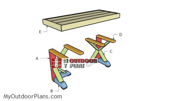 Building-a-trestle-desk