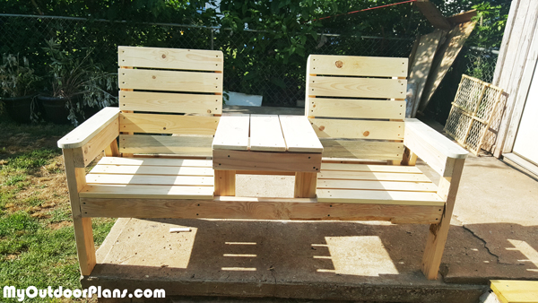 DIY Outdoor Chair Bench | MyOutdoorPlans | Free Woodworking Plans and ...