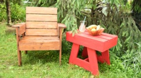 DIY Outdoor Small Table