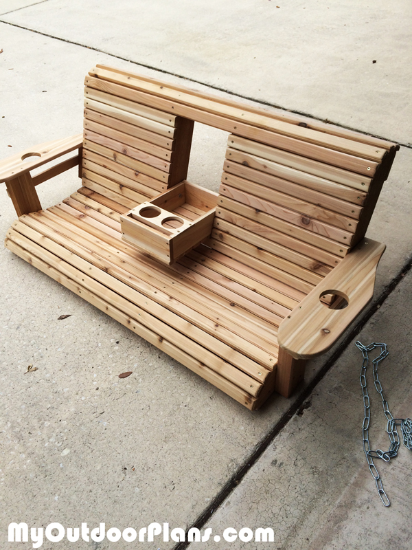 DIY Wood Porch Swing | MyOutdoorPlans | Free Woodworking ...