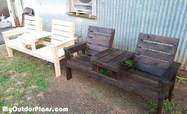 DIY Outdoor Chair Bench | MyOutdoorPlans | Free ...