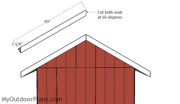 Gable ends trims