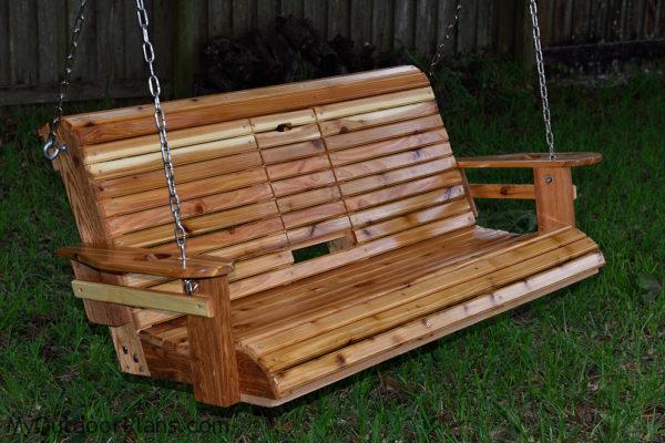 DIY Wood Porch Swing | MyOutdoorPlans | Free Woodworking Plans and ...