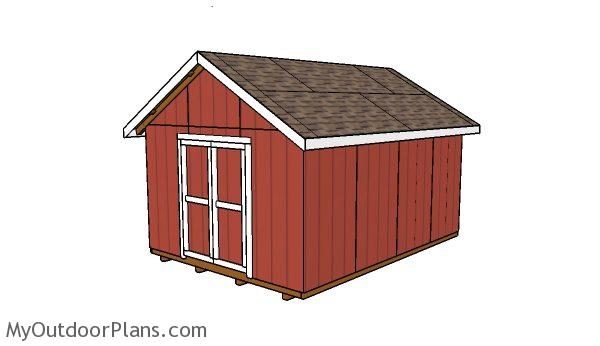 12x16 Shed Plans | MyOutdoorPlans | Free Woodworking Plans ...