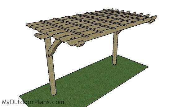 2 Post Pergola Plans | MyOutdoorPlans | Free Woodworking ...