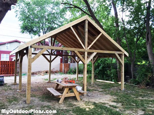 diy 20x20 pavilion myoutdoorplans free woodworking. Black Bedroom Furniture Sets. Home Design Ideas